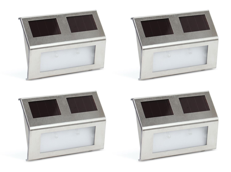 Kenley garten led leuchte solar wand lampen solarleuchten wandleuchten 2 4 st ck ebay - Led lampen wand ...