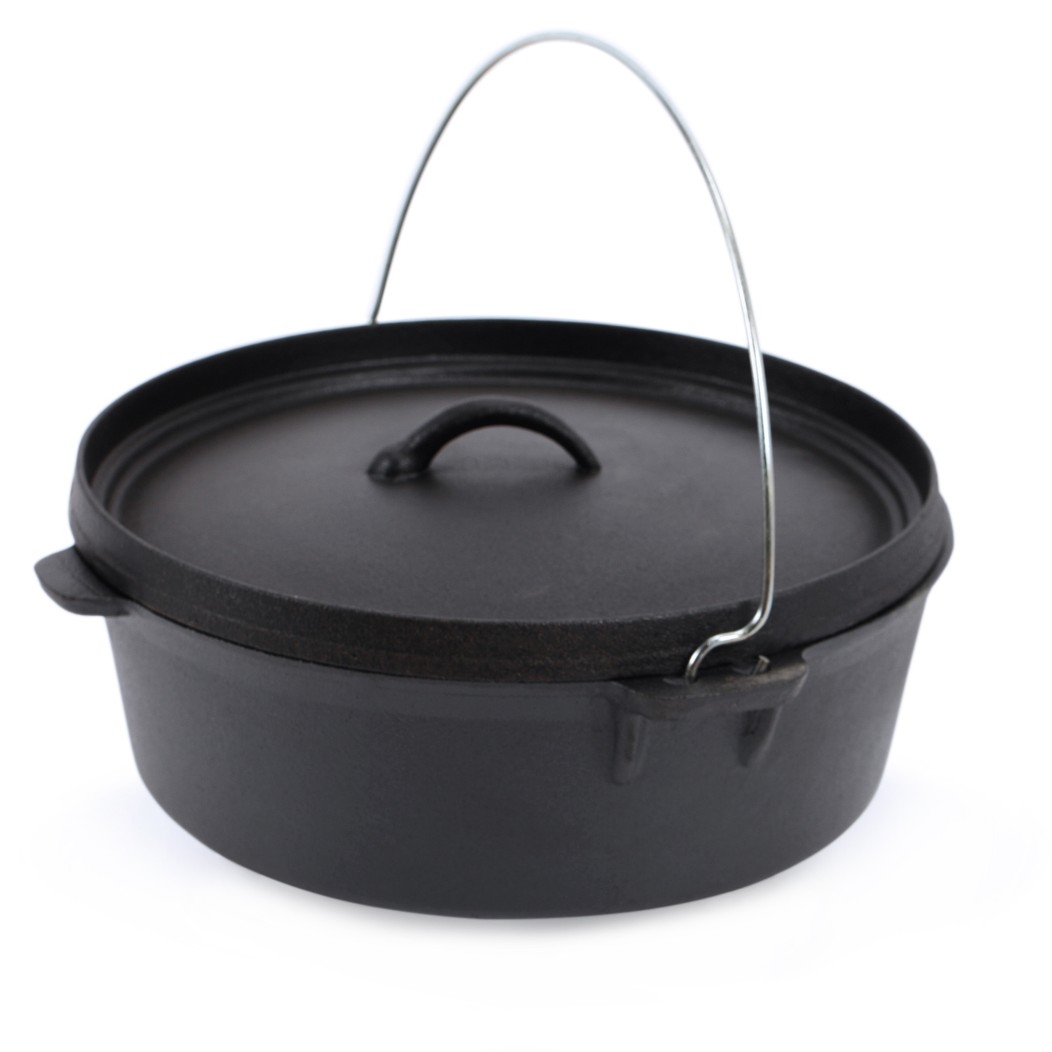 Kenley Cast Iron Dutch Oven Pre Seasoned Camping Cooking