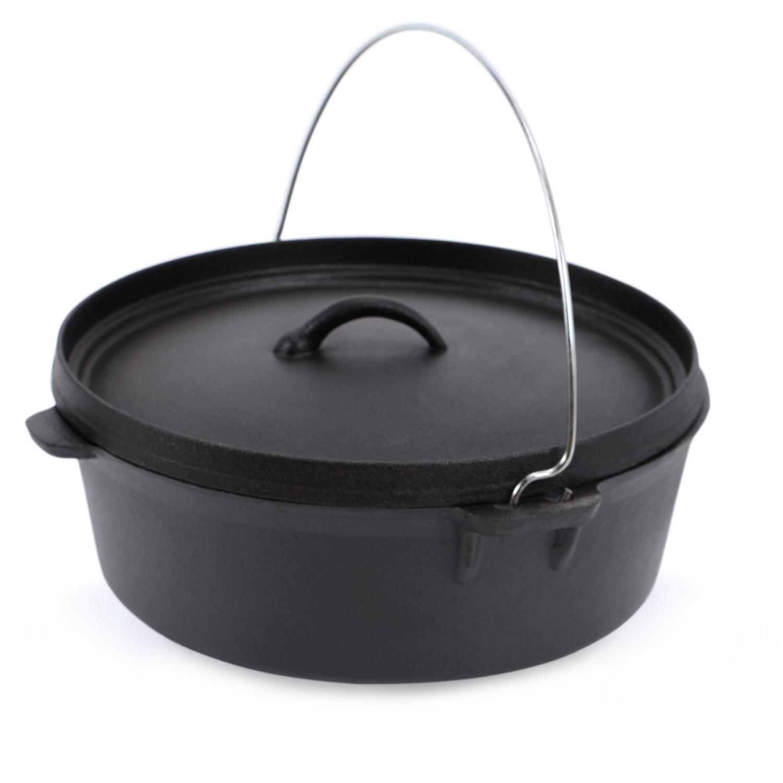 kenley cast iron dutch oven pre seasoned camping cooking stock pot 4 5q 6q ebay. Black Bedroom Furniture Sets. Home Design Ideas