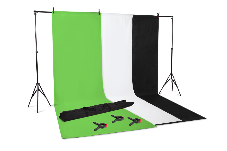 kenley professionnel photo studio background backdrop support kit 3 options. Black Bedroom Furniture Sets. Home Design Ideas